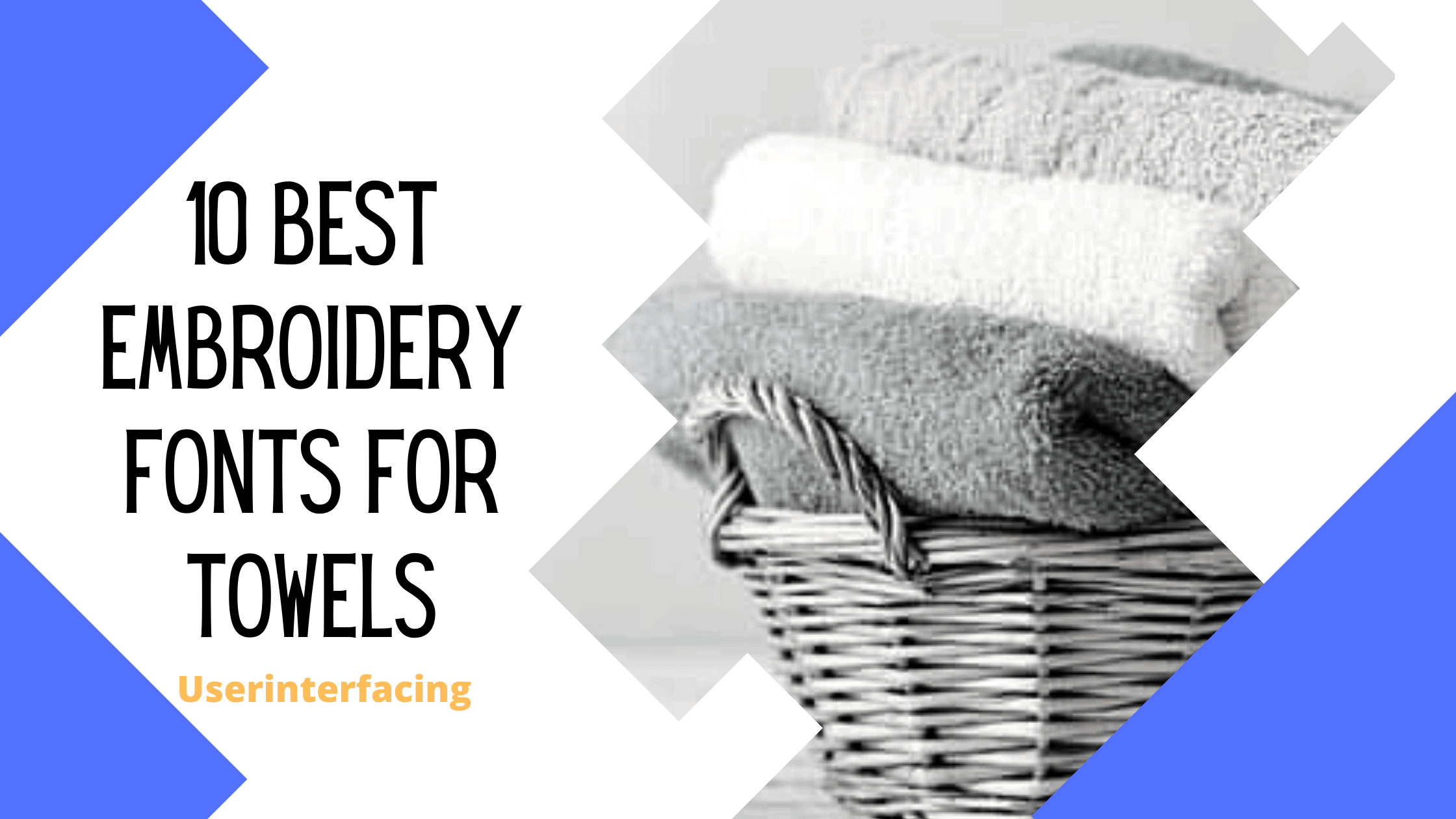 best embroidery fonts for towels